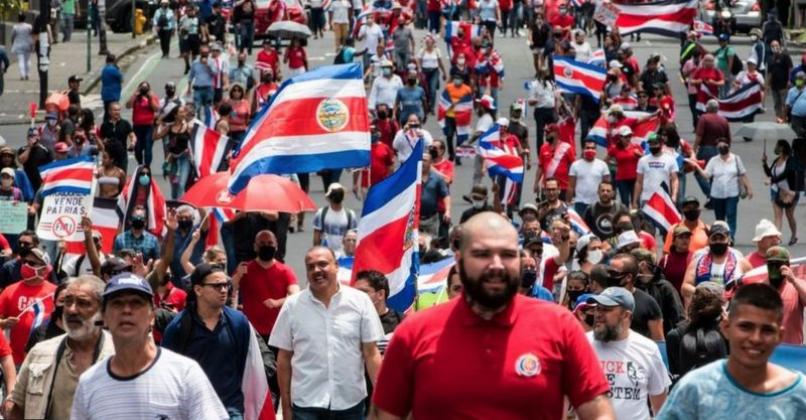 Le proteste in Costa Rica